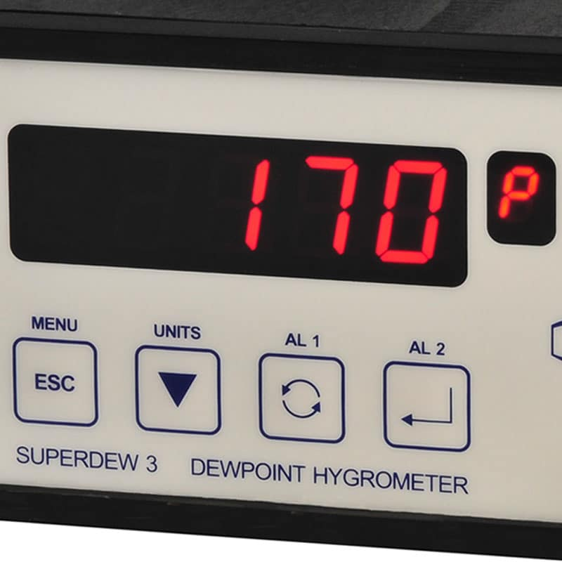 Shaw Superdew 3 single channel inline hygrometer,dewpoint measurement,process gases and compressed air