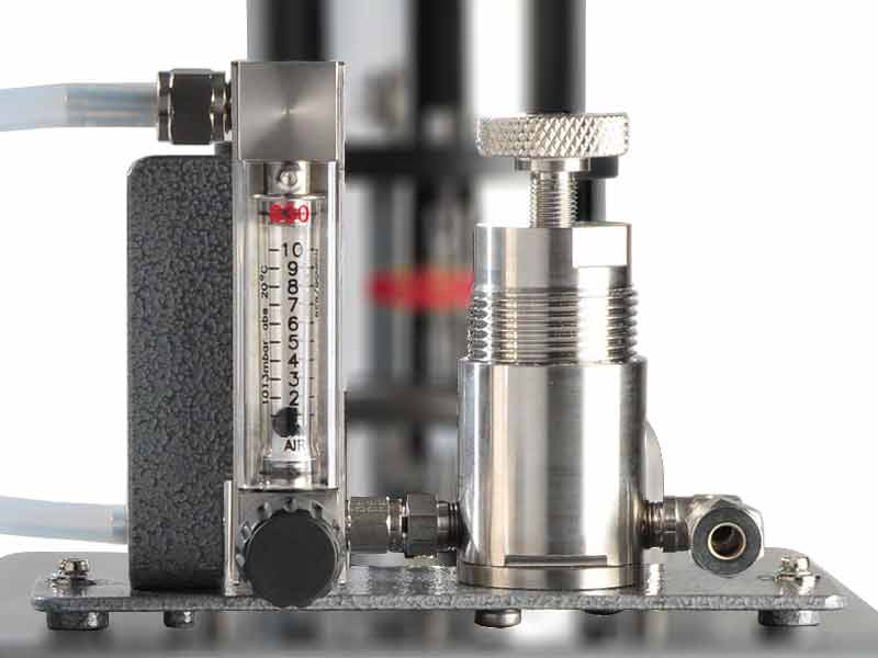 SHAW Sample Systems SU2 sample plate with flow pressure regulation use with portable dewpoint meters, dew point sampling systems range