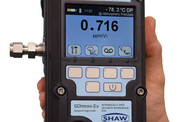 Intrinsically safe SHAW SDHmini-Ex hand held dewpoint meter