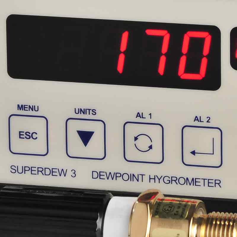 SHAW Superdew 3 single channel inline hygrometer with automatic calibration feature,dewpoint measurement,process gases and compressed air