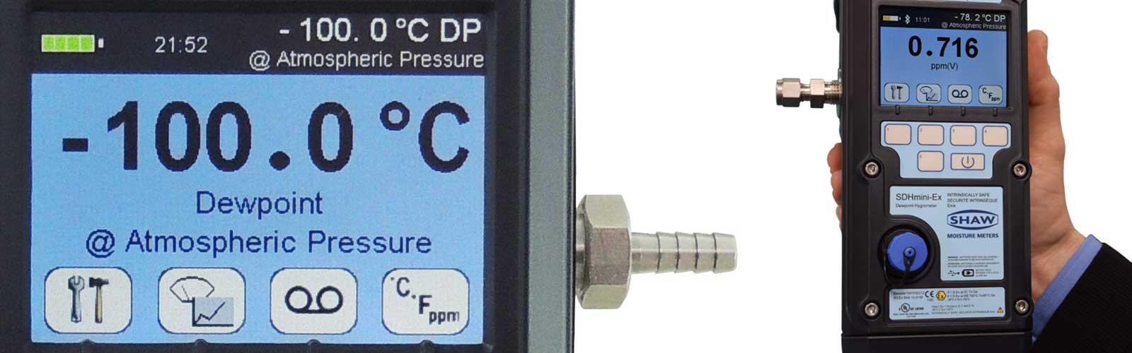 intrinsically safe hand held dewpoint meter SDHmini-Ex hygrometer
