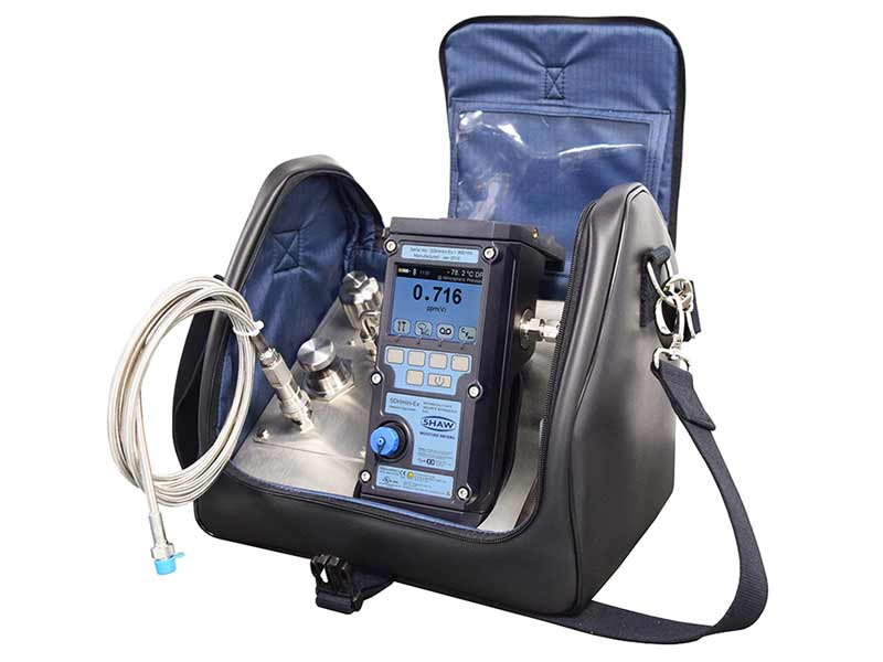 portable sample system for dew point measurement of gases and dry compressed air